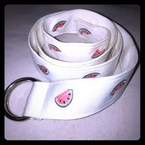 J. Crew belt with WATERMELONS embroidered, NWT M/L
